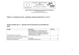 Příloha č.1 Specifikace souborů movitých věcí č. 1 až č. 8