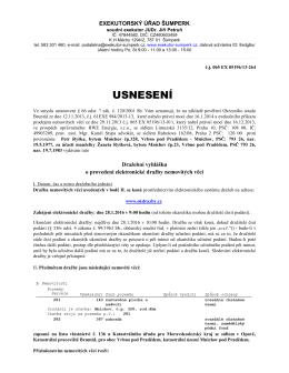 Exekutorský úřad Šumperk - Usnesení