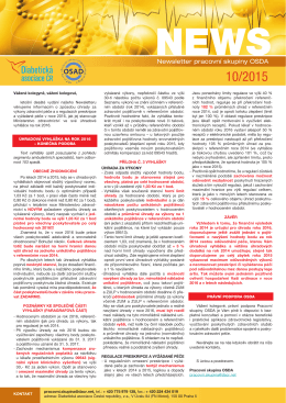 Newsletter pracovní skupiny OSDA