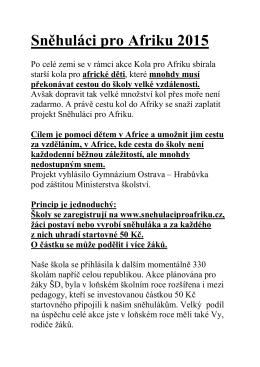 Sněhuláci pro Afriku 2015 - Základní škola Opava, Mařádkova 15