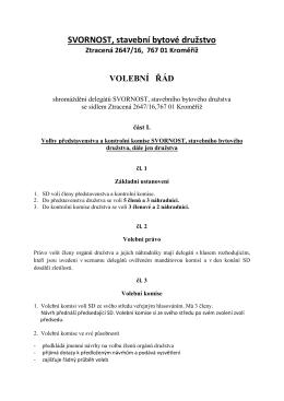 Návrh nového volebního řádu