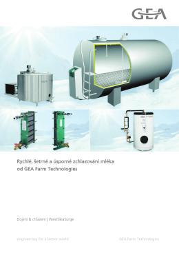 Rychlé, šetrné a úsporné zchlazování mléka od GEA Farm