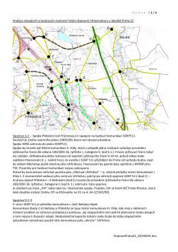 Strana | 1 / 8 DopravaPraha22_20150325.doc Analýza stávajících a