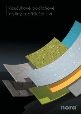 Kaučukové podlahové krytiny a příslušenství
