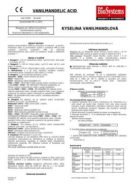 kyselina vanilmandlová vanilmandelic acid - JK