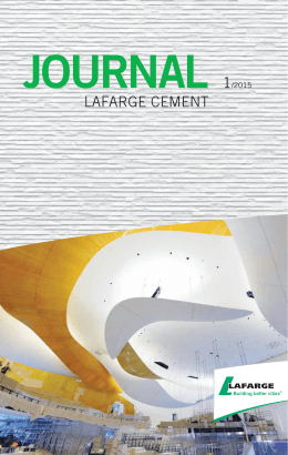 journal 1/2015 - Lafarge Cement a.s.