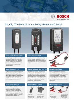 C1, C3, C7 – kompaktní nabíječky akumulátorů Bosch