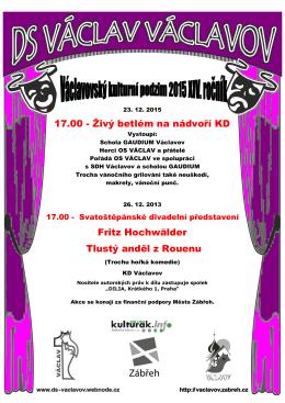 17.00 - Živý betlém na nádvoří KD Fritz Hochwälder