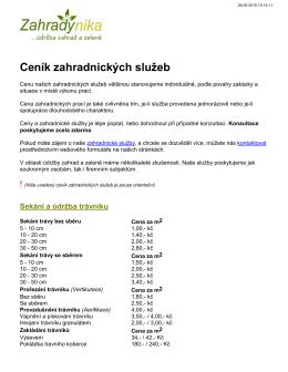 ke stažení v PDF - Údržba a realizace zahrad a zeleně