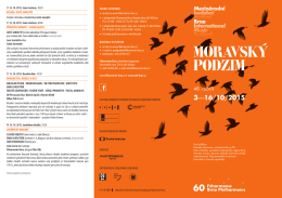 48. ročník - Mezinárodní hudební festival Brno