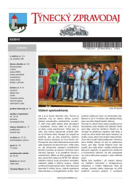 Týnecký zpravodaj 3 2015