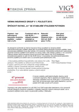 67 procent - Vienna Insurance Group