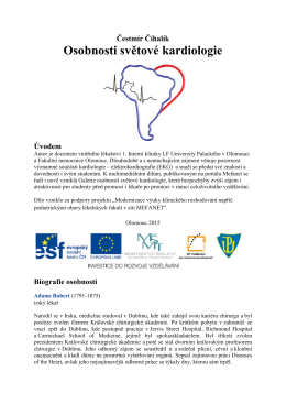 Osobnosti světové kardiologie - Výukový portál LF UP Olomouc