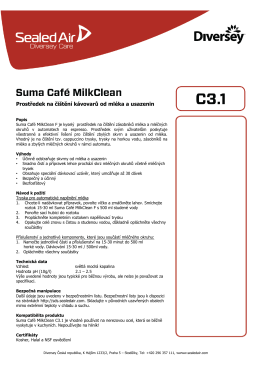 PIS Suma Café MilkClean C3.1