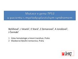 Mutace v genu TP53 u pacientů s