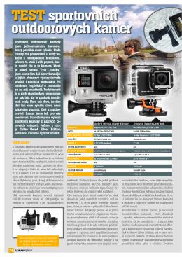 TEST sportovních outdoorových kamer