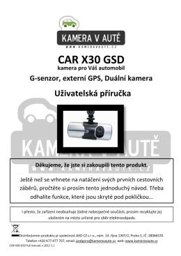 CAR X30 GSD - Kamera v aute.cz