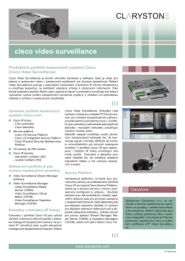 cisco video surveillance