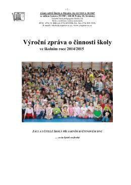 Výroční zpráva za rok 2014/2015
