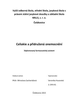 Celiaklie a přidružená onemocnění