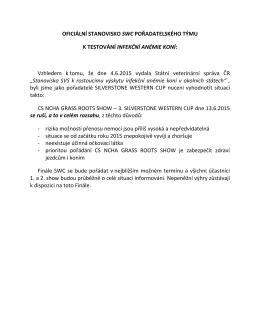 Oficiální stanovisko pořadatele ke stažení PDF