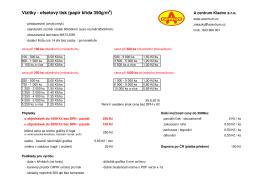 Vizitky - ofsetový tisk (papír k ída 350g/m )