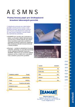Pružný brusný papír pro širokopásové broušení
