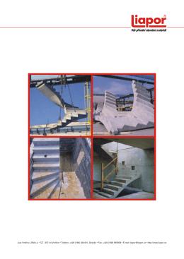Levotočité schodiště z lehkého Liaporbetonu