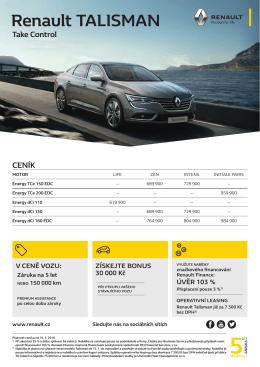 Ceník - Renault