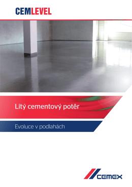 Litý cementový potěr CemLevel