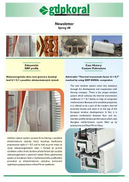 newsletter spring - GDP KORAL s.r.o.