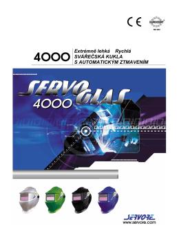 Extrémně lehká rychlá – ServoGlass 4000
