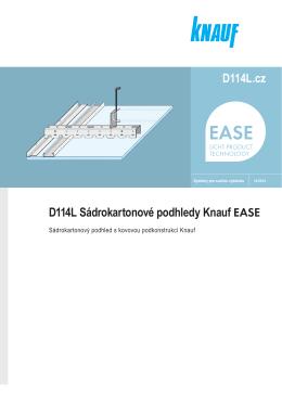 D114L.cz D114L Sádrokartonové podhledy Knauf EASE