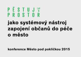 Marek Sivák, Pěstuj prostor, z. s.,Plzeň