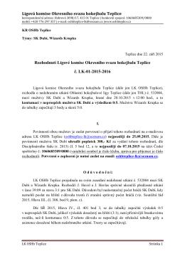 LK-02 - OSHb Teplice