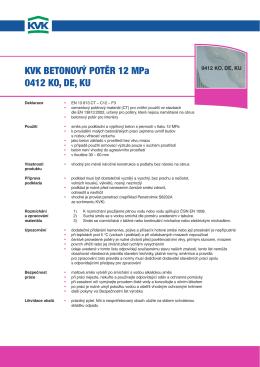KVK BETONOVÝ POTĚR 12 MPa 0412 KO, dE, Ku