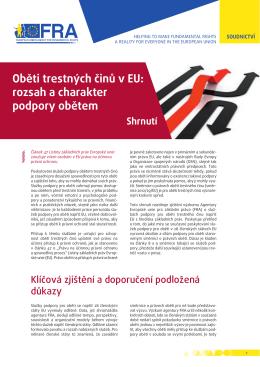 Oběti trestných činů v EU: rozsah a charakter podpory obětem