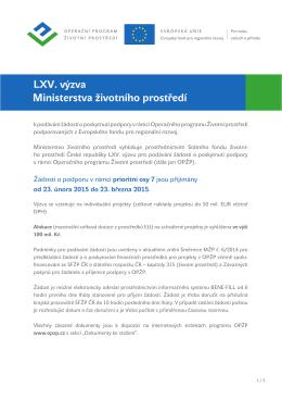 LXV. výzva PO7