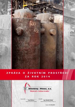 Slévárny - Zpráva o životním prostředí 2014
