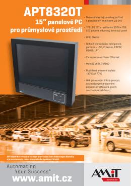 """APT8320T - 15"""" panelové PC pro průmyslové prostředí"""