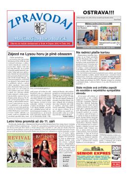 Srpen 2015 - Městský Obvod Mariánské Hory a Hulváky