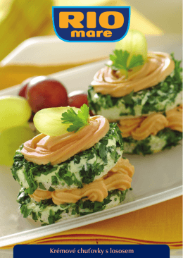Krémové chuťovky s lososem