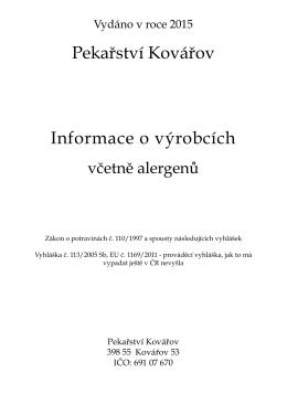 Složení výrobků včetně alergenů – PDF