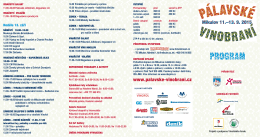 Program - Pálavské vinobraní 2015