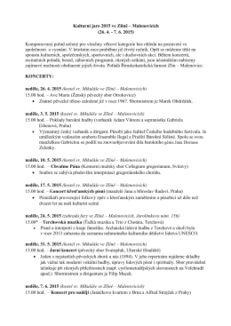 Kulturní jaro 2015 ve Zlíně – Malenovicích