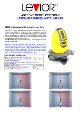 Laserová měřící technika
