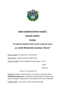 6. ročník Memoriálu Jaroslava Šturze