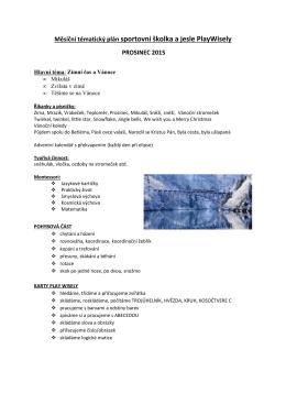 Měsíční tématický plán prosinec 2015