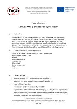 Pracovní instrukce Stanovení 9-ACA (9