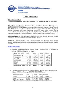 Zápis č. 02 ze dne 28.01. 2015